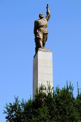 Statue at Troika Square