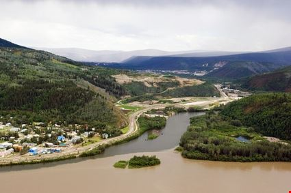 Merge of Klondike river and Yukon river