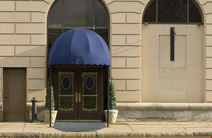 An Elegant Door with Awning