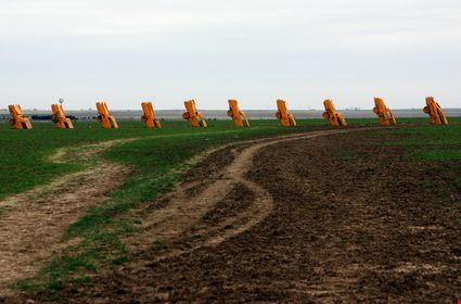 The famous cadillac ranch on route 66