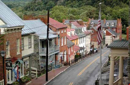 The view from up high of Harper's Ferry