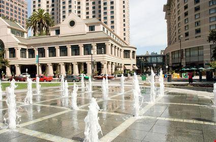 Plaza de Cesar Chavez is a small park in Downtown San Jose
