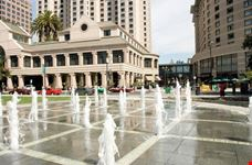Plaza de Cesar Chavez is a small park in Downtown San Jose