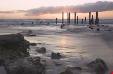 Ruins in the beach