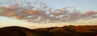 Clouds over the flinders ranges at sunset