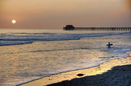 Sunset at the Pier in Oceanside beach