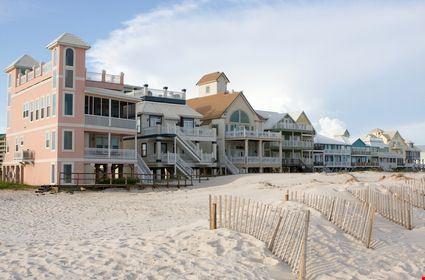 A row of luxury beach homes