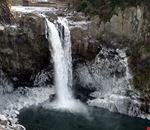 Snoqualmie Falls in winter