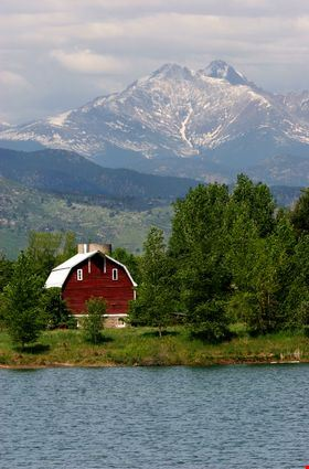 Long's Peak and Barn