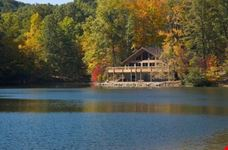 A lodge on the lake