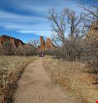 Popular hiking trail