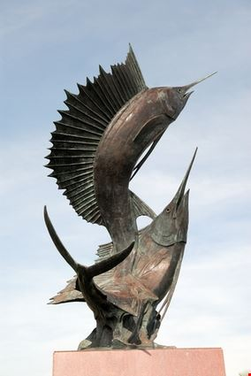 Sword Fishes Statue