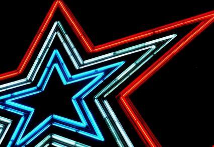 Patriotic Neon Star
