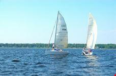 Sailing on Muskegon Lake