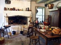 Kitchen in historic plantation home