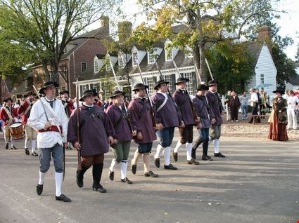American Militia in Historic Parade
