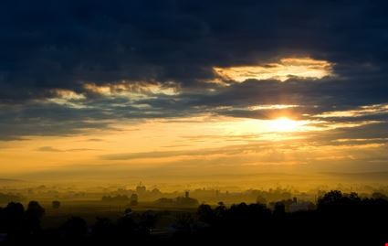 Sunrise on Lancaster County