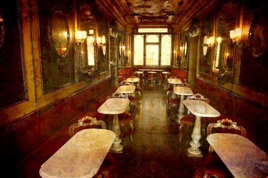 15095 venezia interno del caffe florian