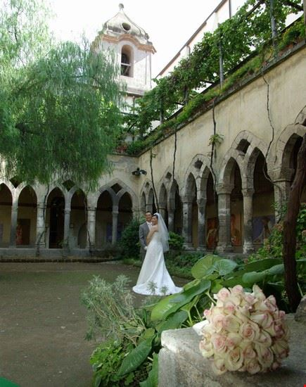 sorrento wedding at cloisters