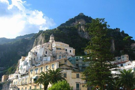 Veduta di Amalfi vista monti