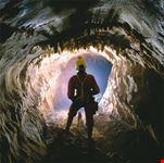 L'interno di una grotta.