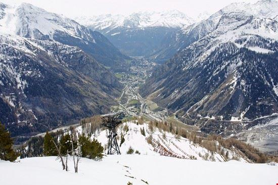 courmayeur la pista da sci