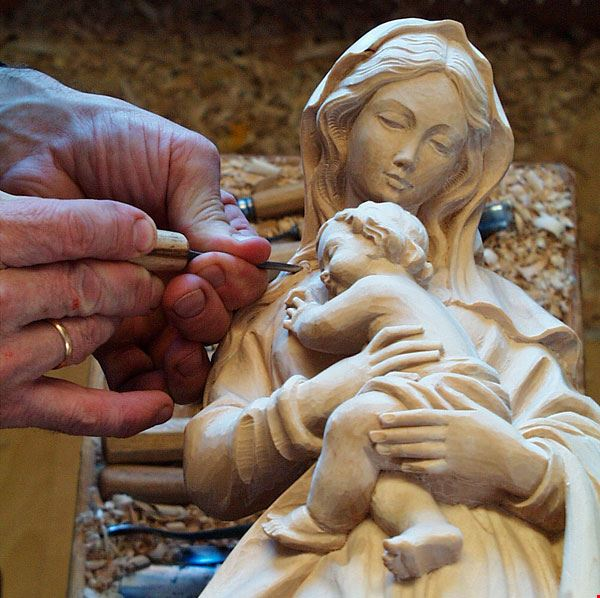 La Scultura in legno - Madonna con Bambio