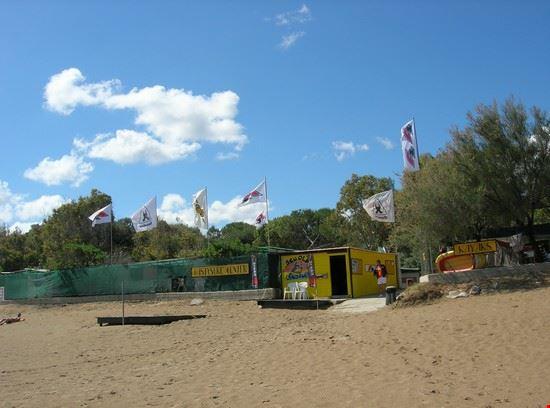 la spiaggia e la scuola