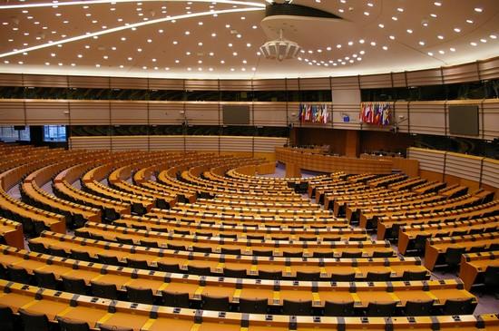 Foto l 39 interno del parlamento europeo a bruxelles for Parlamento in diretta