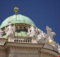16508 vienna una delle cupole del palazzo imperiale di hofburg