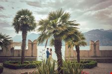 Wedding photo shoot at Malcesine, Lake Garda