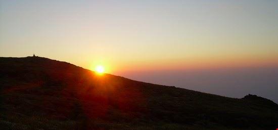 Il tramonto sull'Etna