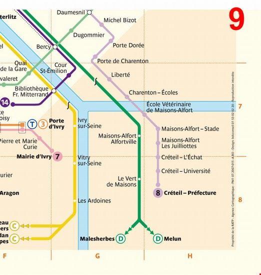17342_parigi_piantina_della_sezione_9_sud_est_della_metropolitana_di_parigi