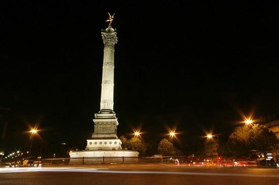 17375 parigi veduta notturna di place de la bastille