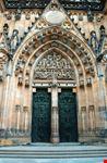 praga il portale della cattedrale