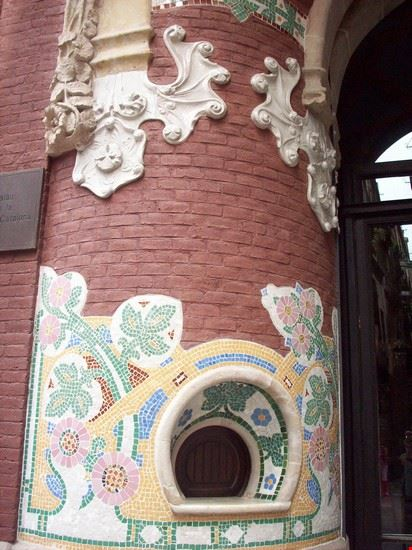 Particolare di una colonna facciata laterale