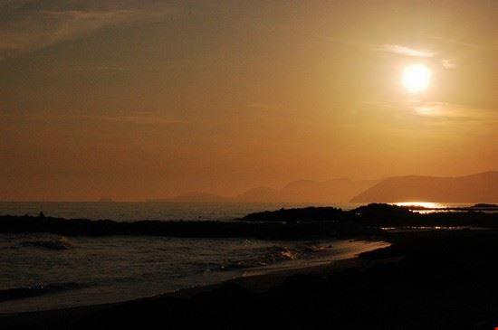 tramonto a Marina di Massa