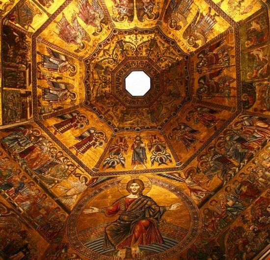 17933 firenze il mosaico dorato della cupola del battistero