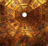 firenze il mosaico dorato della cupola del battistero