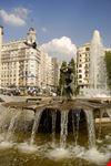 Particolare del monumento a Cervantes