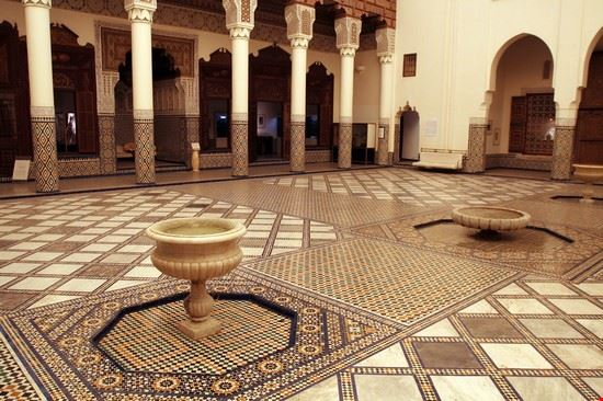 marrakech decorazioni all interno del museo di marrakech