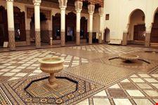 marrakech decorazioni all interno del museo di marrakech