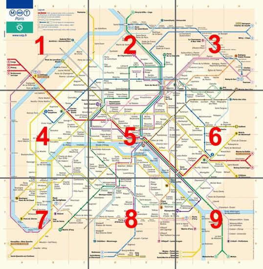 Parigi Cartina Metro.Mappa Di Parigi Imagui