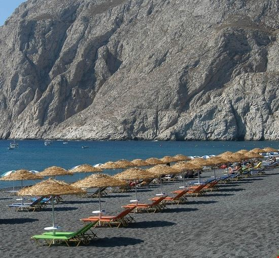 18397 santorini la spiaggia greca