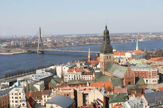 Veduta del centro storico di Riga