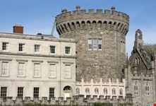 Particolare di una torre del Castello di Dublino