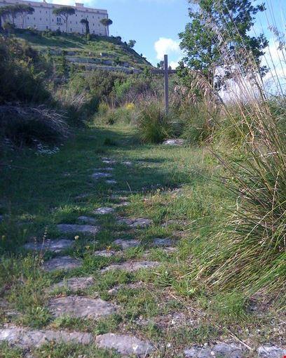 vecchio sentiero di accesso all'Abbazia