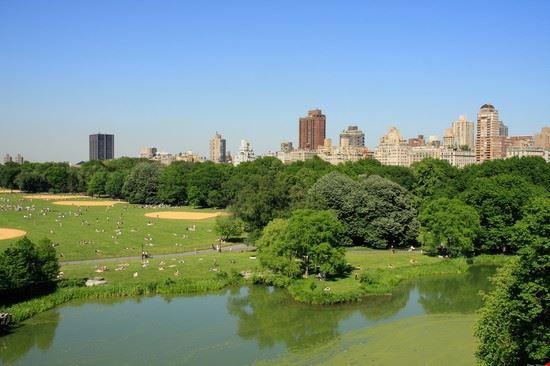 Foto i grattacieli di manhattan visti dal central park a for Immagini grattacieli di new york