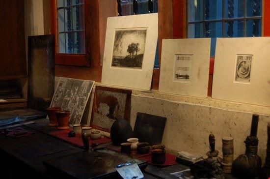 18967 amsterdam studio incisioni casa rembrandt