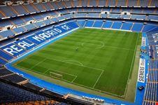 L'interno dello Stadio Santiago Bernabeu